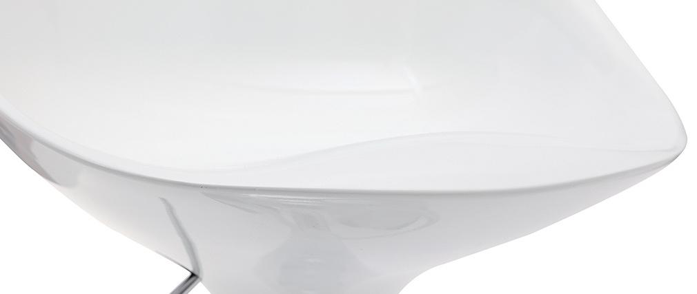 Gruppo di 2 sgabelli da bar UOVO bianco