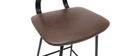 Gruppo di 2 sgabelli da bar vintage marrone con piedi in metallo 65cm LAB