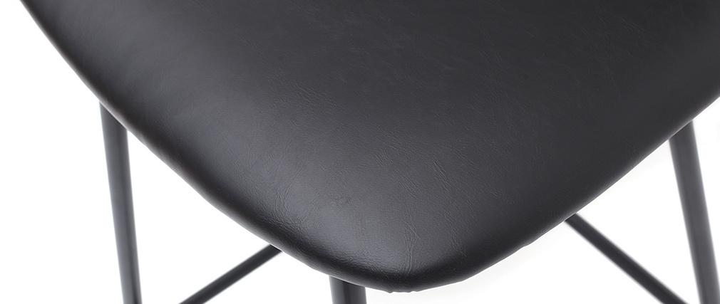 Gruppo di 2 sgabelli da bar vintage nero con piedi in metallo 65cm LAB