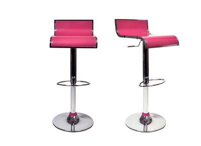 Gruppo di 2 sgabelli da bar WAVES rosa