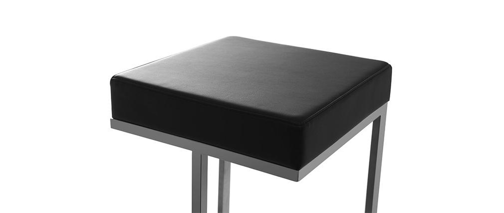 Gruppo di 2 sgabelli design neri Omicron