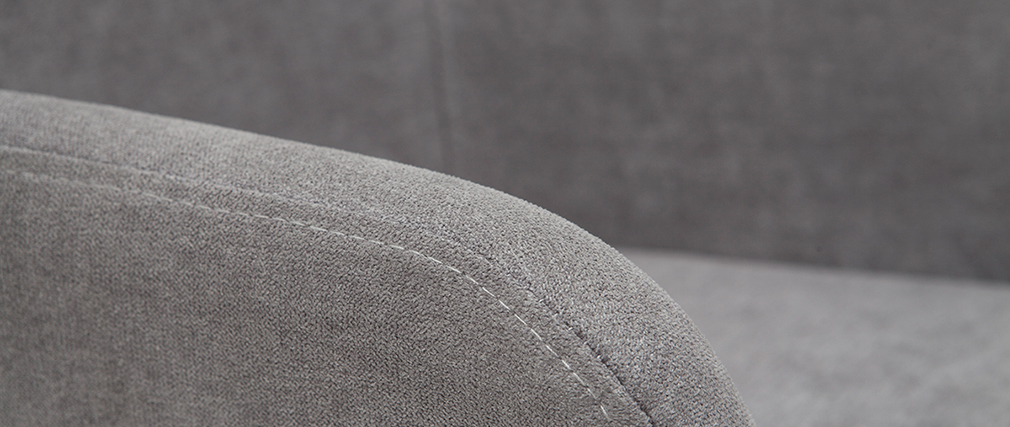 Gruppo di 2 sgabelli in tessuto effetto velluto grigio H65 cm AMIKA