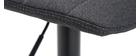 Gruppo di 2 sgabelli regolabili tessuto e metallo grigio scuro SAURY