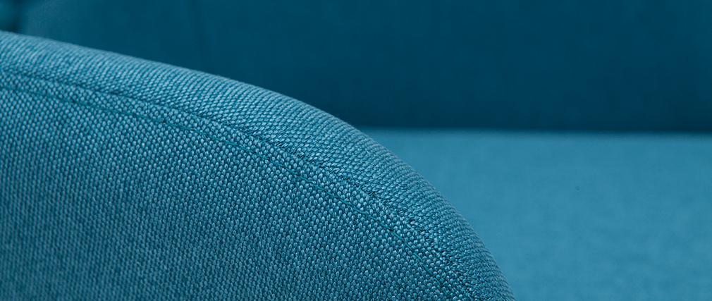 Gruppo di 2 sgabelli scandinavi blu anatra e legno H65 cm BALTIK