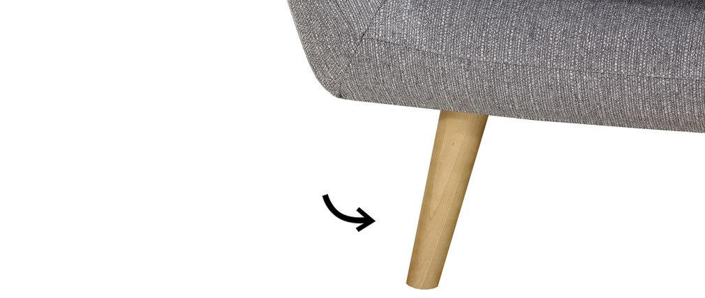 Gruppo di 4 piedi finiture legno chiaro OLAF