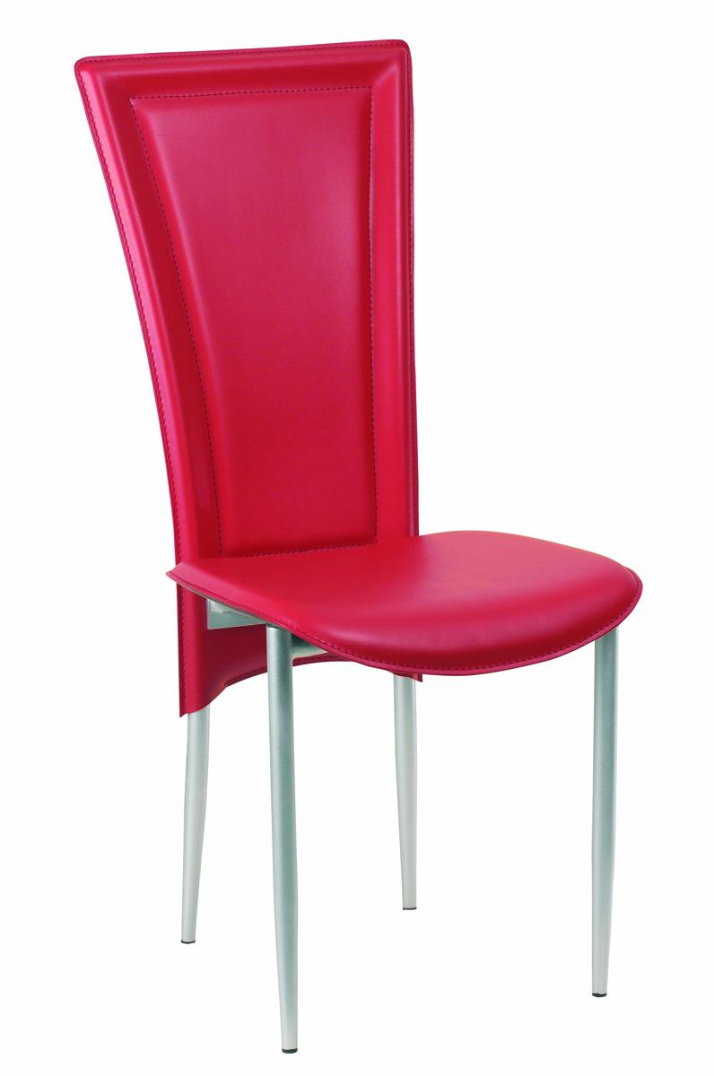 gruppo di 4 sedie da cucina design kylie rosse miliboo