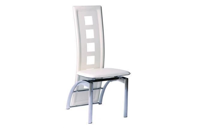 Gruppo di 4 sedie da cucina sala da pranzo bianca jackie miliboo - Sedie da sala da pranzo ...