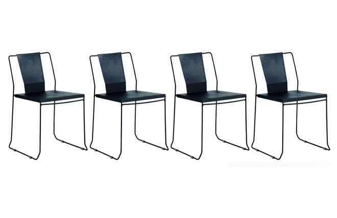 Feltrini Per Sedie Di Metallo : Gruppo di sedie da giardino design metallo nero tenerife miliboo