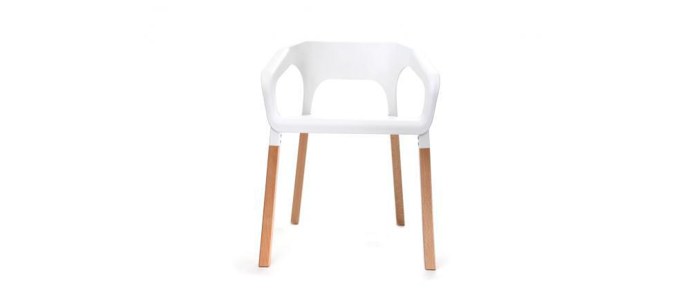 Gruppo di due sedie design scandinave bianche HELIA