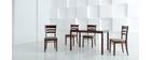 Gruppo di due sedie in rovere colore wengé  ALICE