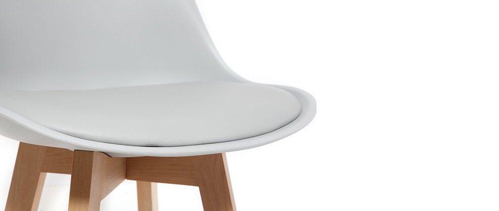 Gruppo di due sgabelli da bar design colore grigio chiaro PAULINE