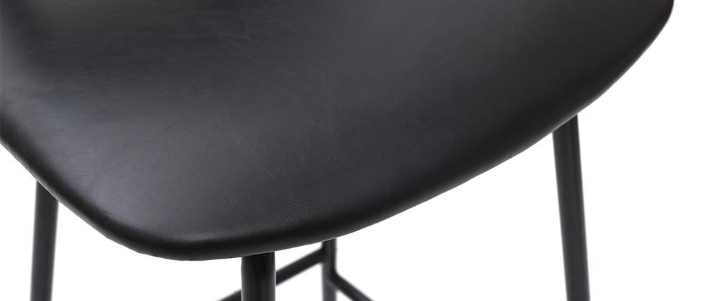 Gruppo di due sgabelli da bar nero con piedi in metallo 75 cm LAB