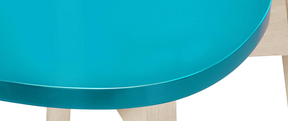 Gruppo di due sgabelli da bar scandinavi blu anatr 65 cm LEENA