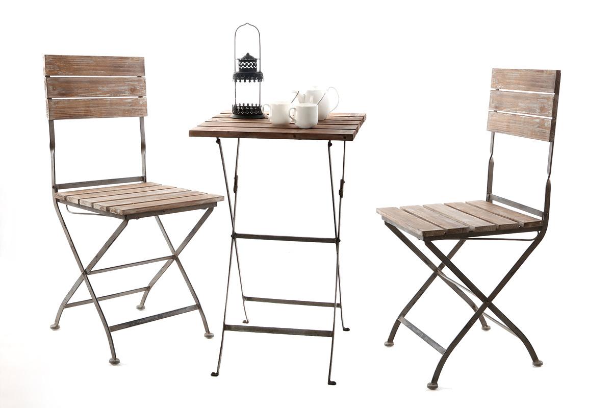 Insieme tavolo e sedie da giardino willord miliboo for Tavolo e sedie terrazzo