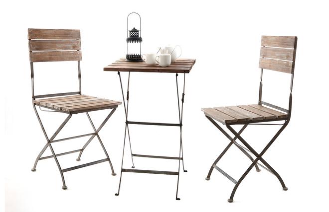 Insieme tavolo e sedie da giardino willord miliboo - Tavolo e sedie giardino ...