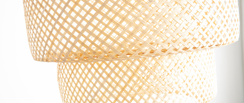 Lampada da soffitto bohème in bambu