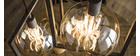 Lampada da soffitto design 3 sfere finitura argento antico DIYA