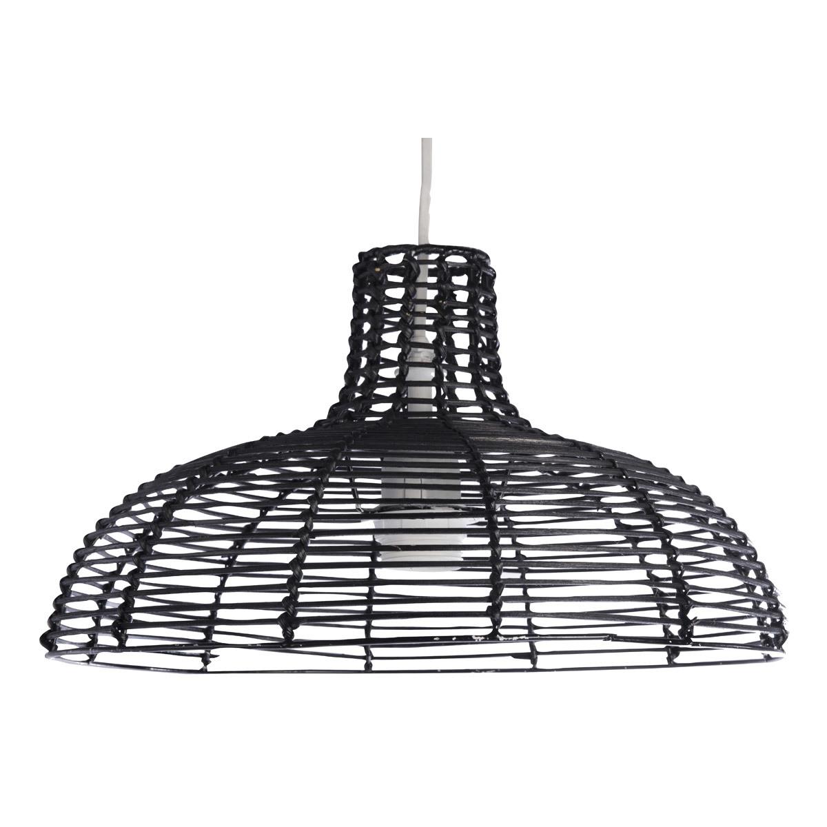 Lampada da soffitto design in bambu' nero CUP