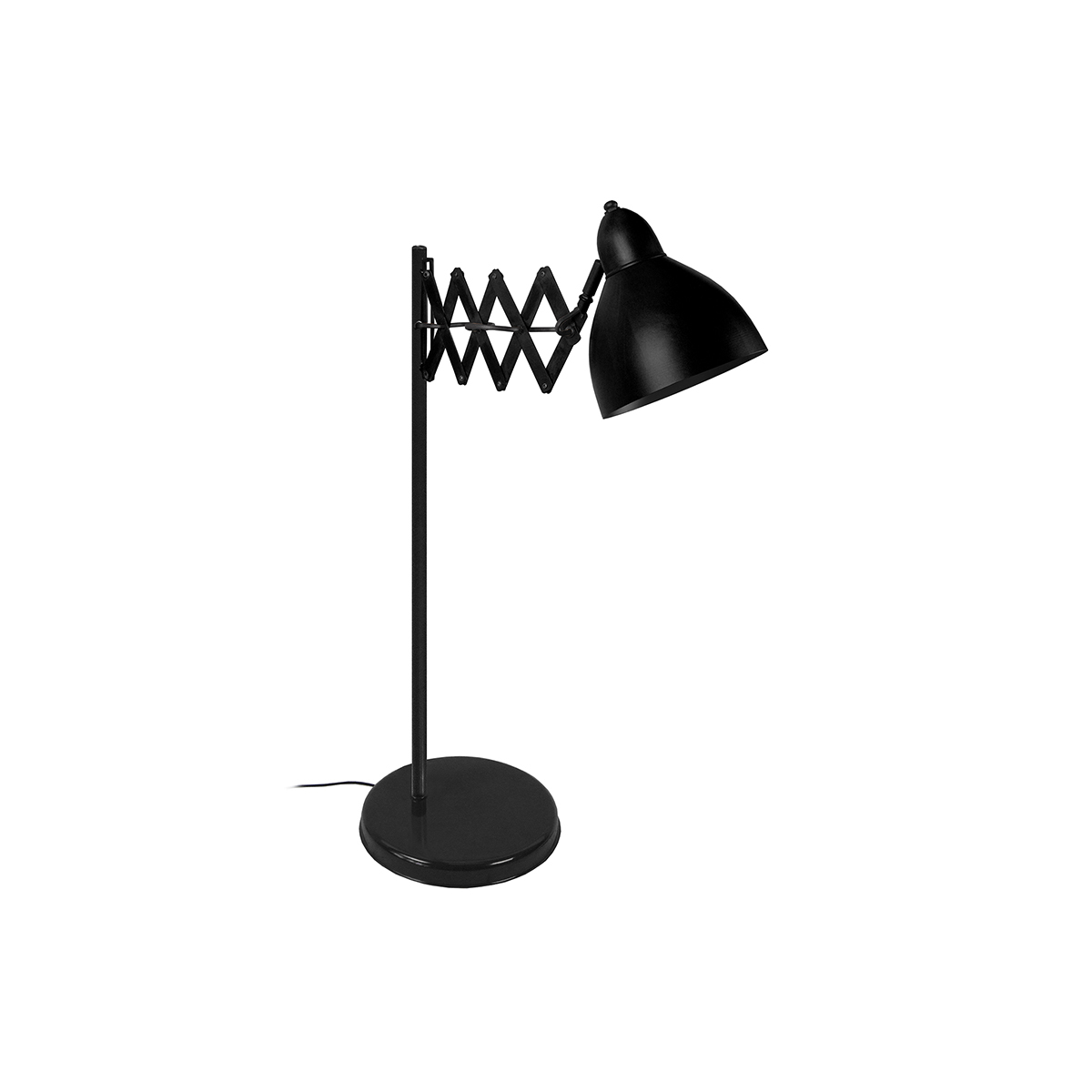 Lampada da tavolo design estensibile in acciaio Nero HARMONICA