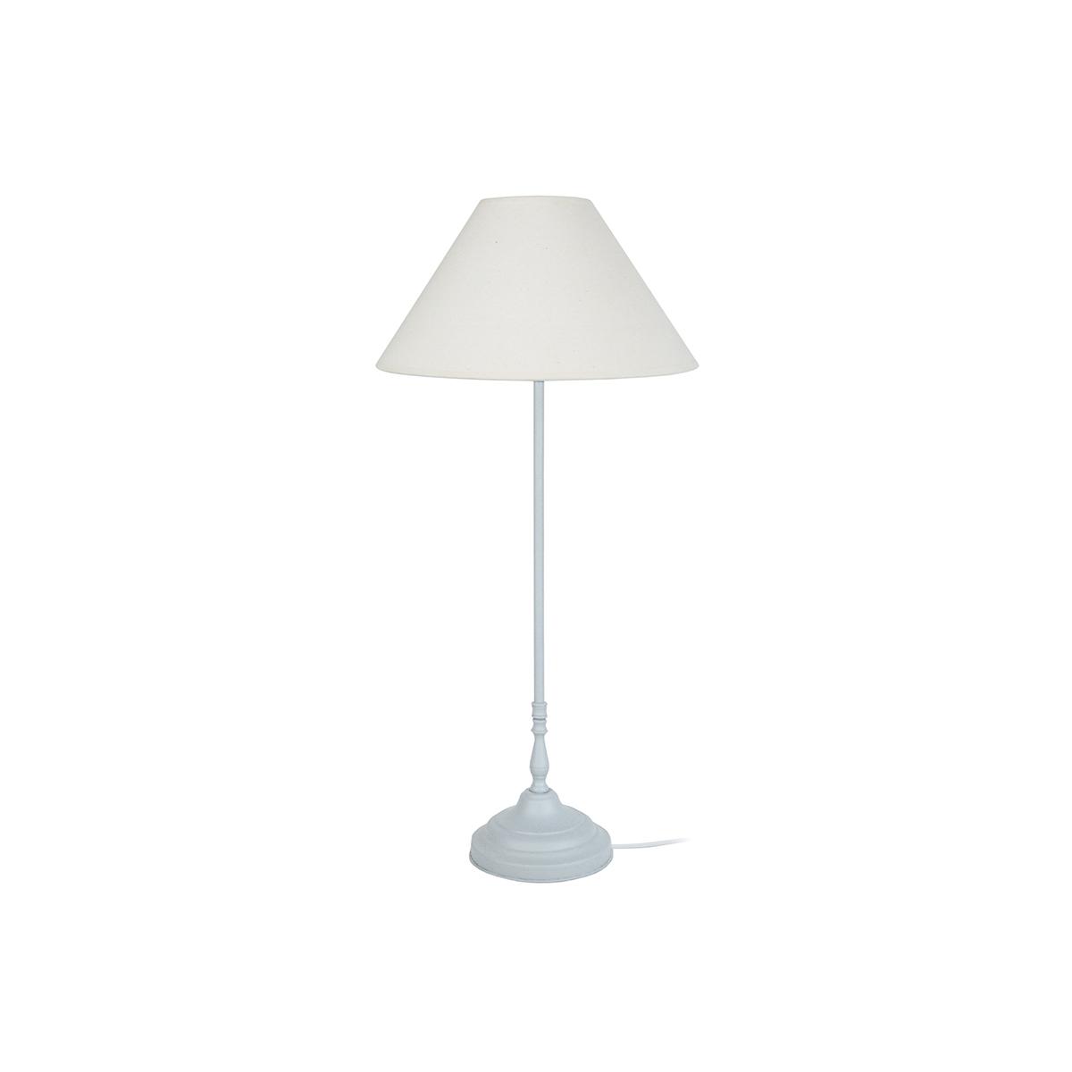 Lampada da tavolo design in acciaio Bianco con cerussa HOLIDAYS