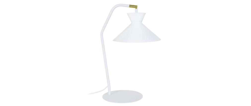 Lampada da tavolo design in acciaio Bianco LEEDS