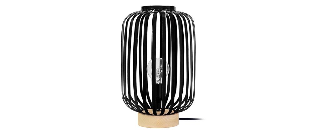 Lampada da tavolo design in acciaio Nero ALVEOL