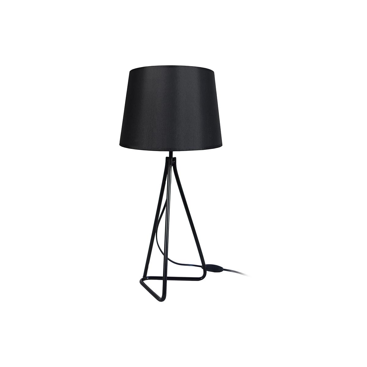 Lampada da tavolo design in acciaio Nero LADY