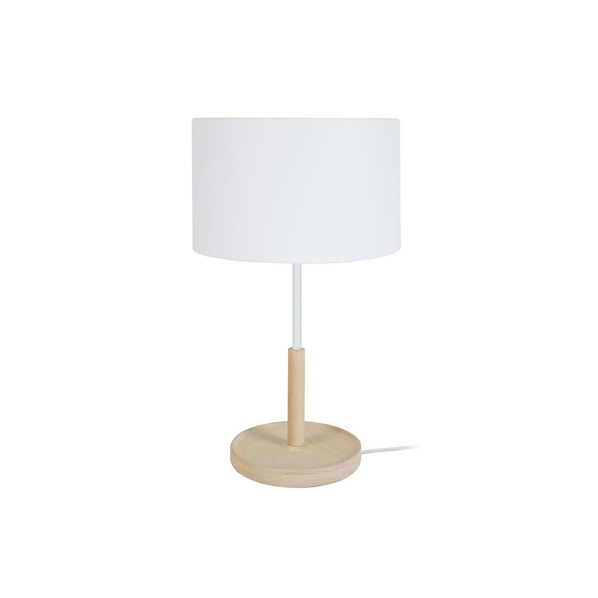 Lampada da tavolo design in legno Bianco ELIOT
