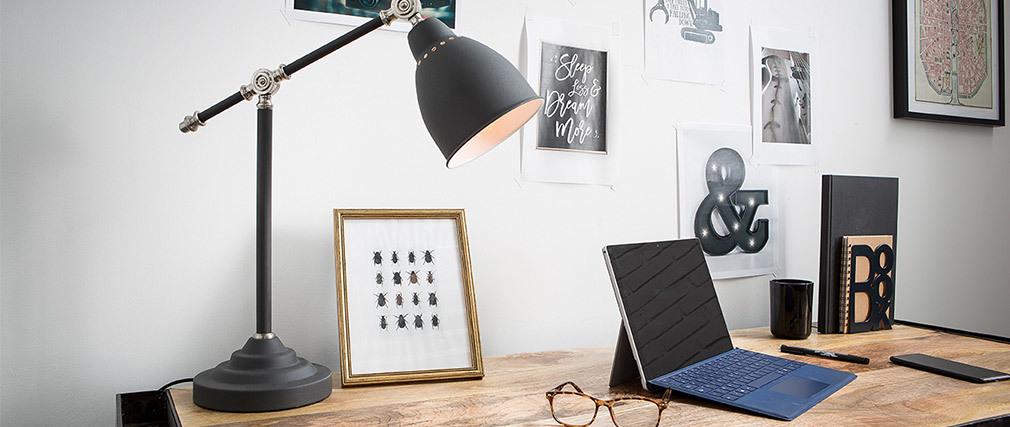 Lampada da tavolo design in metallo Nero PROJECT