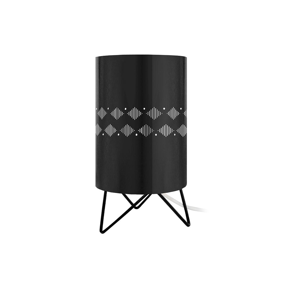 Lampada da tavolo design in metallo Nero SMART