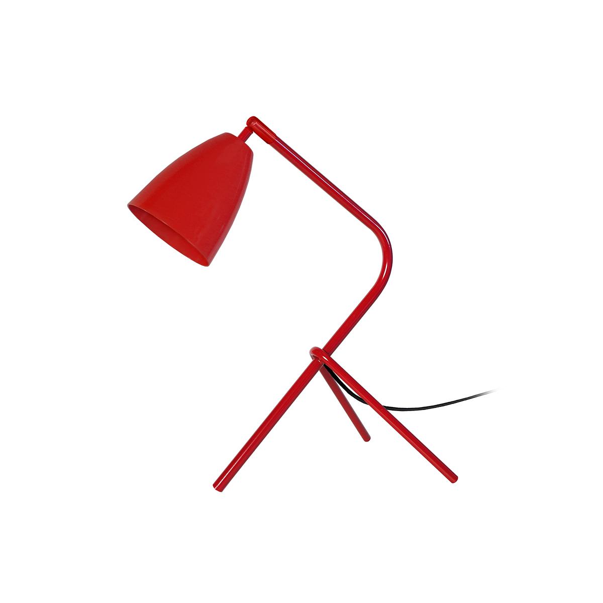 Lampada da tavolo design in metallo Rosso FRIDAY