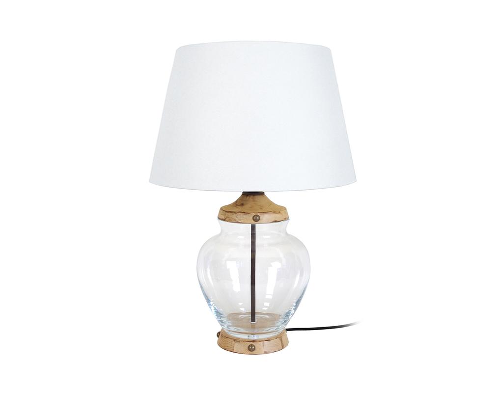 Lampada Da Tavolo Design In Vetro E Legno Pukka Miliboo