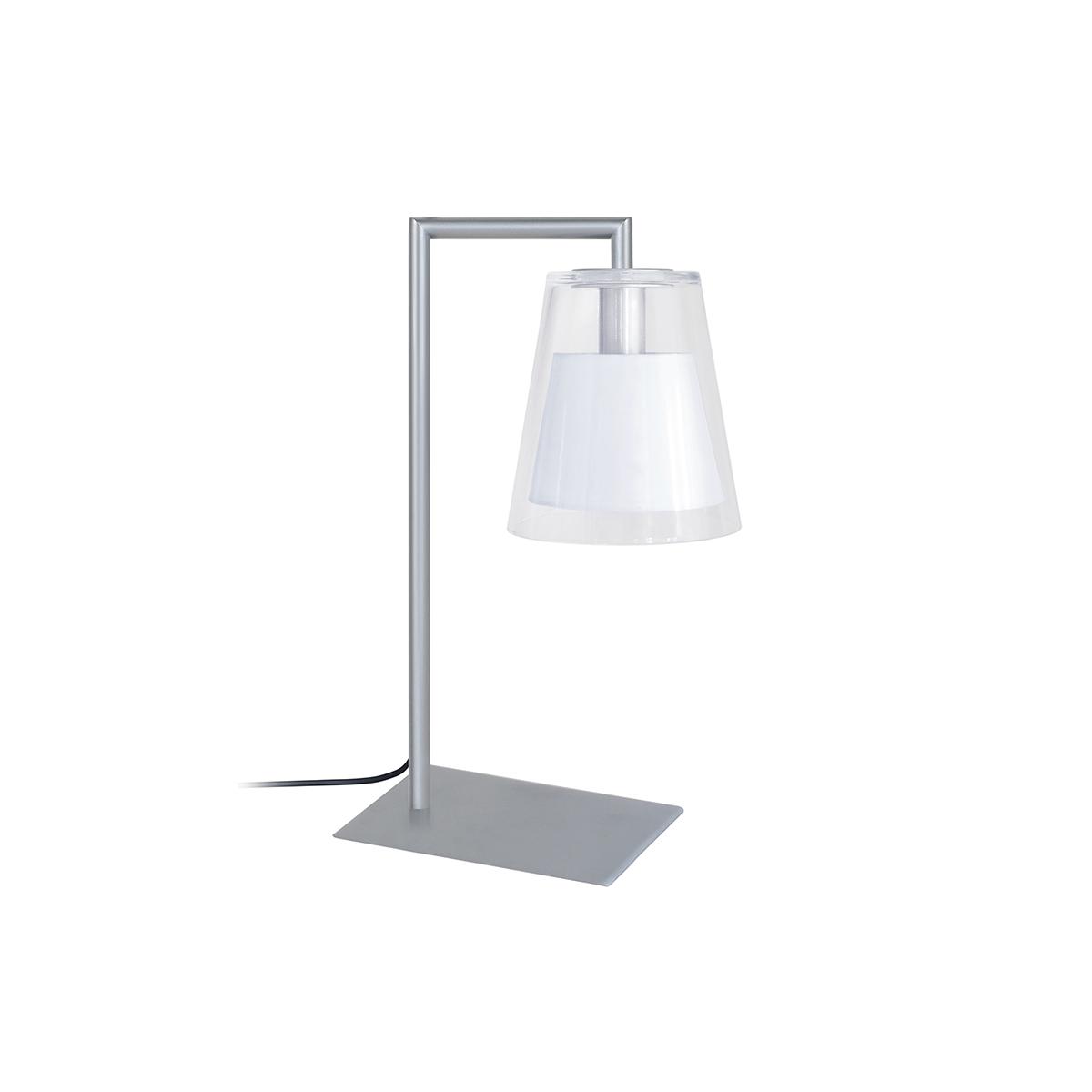 Lampada da tavolo design in vetro e metallo Bianco ACROSS