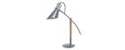 Lampada da tavolo design legno e acciaio Cromato SOUND