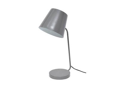 Lampada da tavolo design metallo grigia EAZY