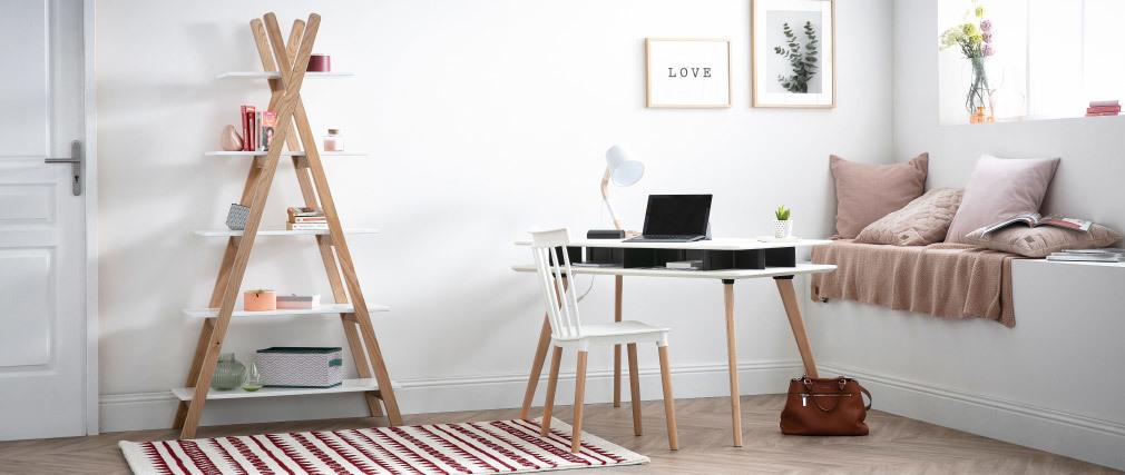 Lampada da tavolo design piede a forma di cerchio Bianco TWIST