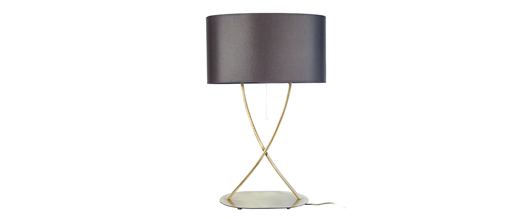 Lampada da tavolo design piedi incrociati dorati MADAM