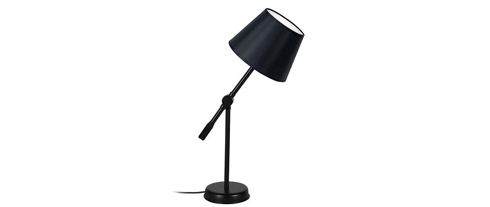 Lampada da tavolo design snodata in acciaio Nero LUCIO