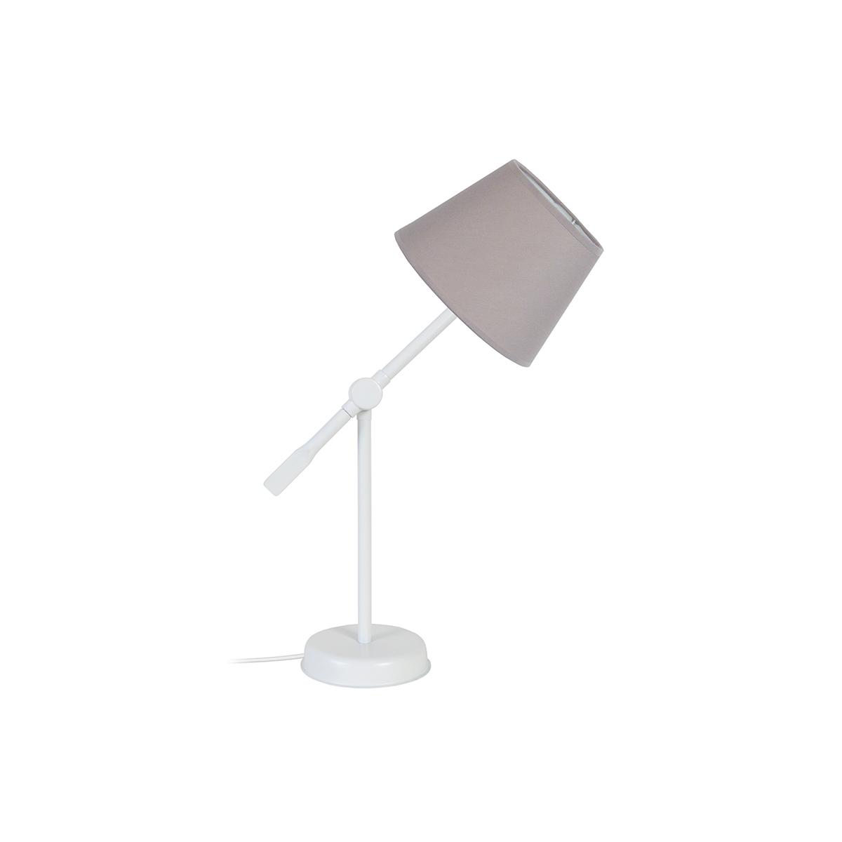 Lampada da tavolo design snodata in acciaio Talpa LUCIO