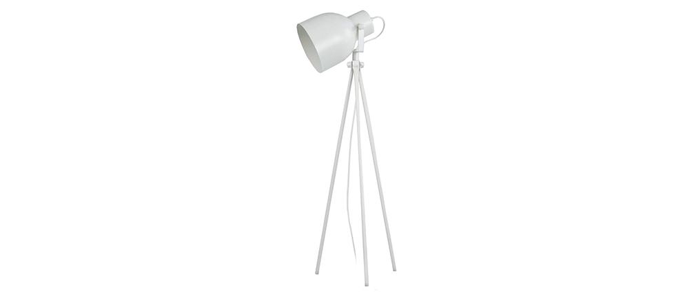 Lampada da tavolo design treppiede in acciaio Bianco CITY