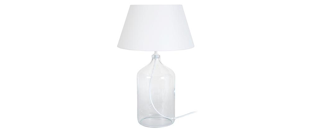 Lampada da tavolo design vetro e bianco TRAVEL
