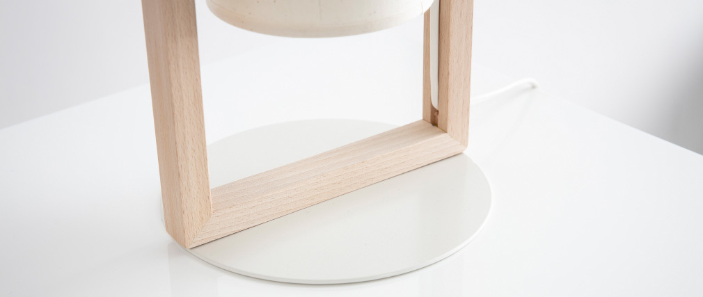 Lampada da tavolo di design di legno HATHA