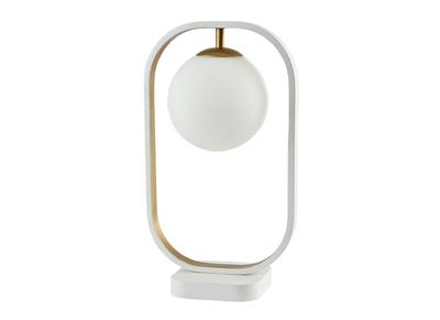 Lampada da tavolo, di design, in vetro e metallo dorato, modello: AVOLO