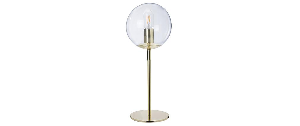 Lampada da tavolo in metallo dorato e vetro SOAP