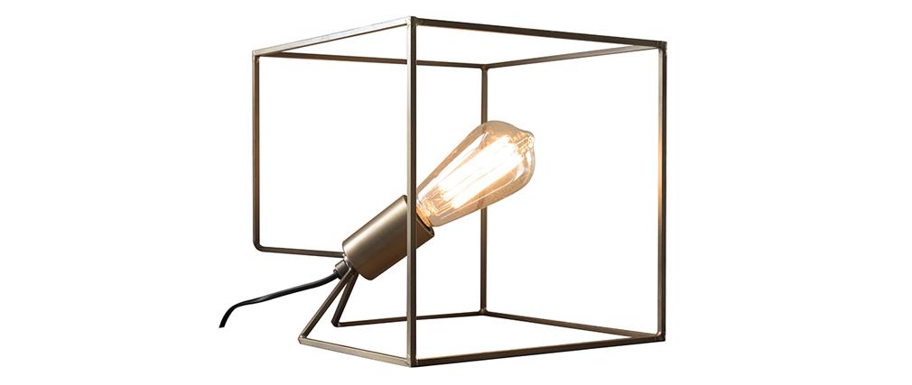 Lampada da tavolo in metallo e finitura bronzo antico CORNER