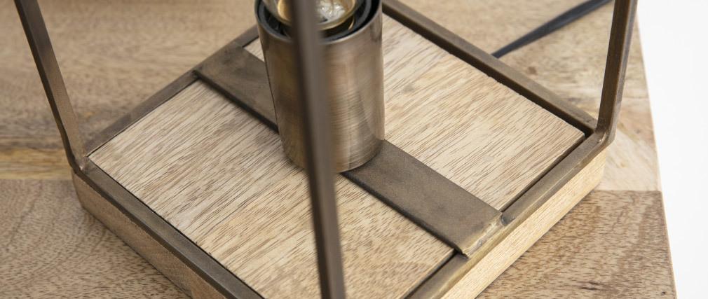 Lampada da tavolo industriale bronzo antico SOCKEL