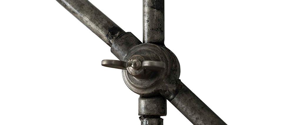 Lampada da tavolo industriale in metallo antico SHELTER