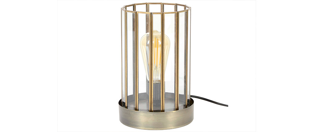 Lampada da tavolo industriale in metallo bronzo CANOPY