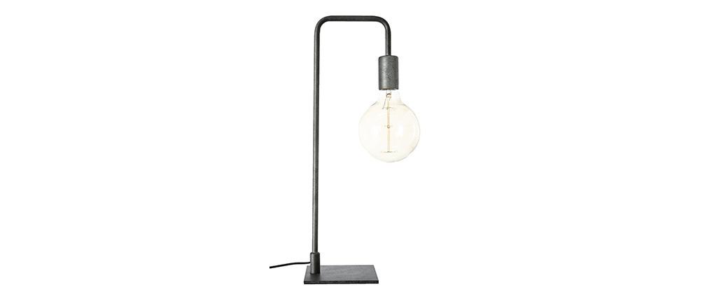 Lampada da tavolo industriale in metallo nero GARBI