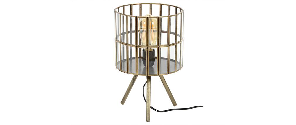 Lampada da tavolo industriale su piedi in metallo bronzo CANOPY